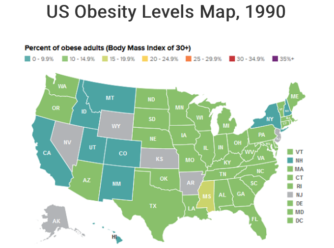 obesity 1990